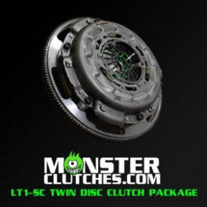 MONSTER CLUTCH TWIN DISC KIT – C6 CORVETTE (w/ 18lb flywheel) MCLT1SCC6BLWB