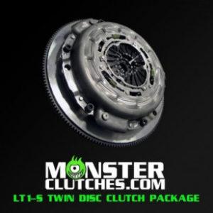 MONSTER LT1-S TWIN DISC CLUTCH KIT W/ STANDARD WEIGHT FLYWHEEL CAMARO (10-15) MCLT1SGEN5BB