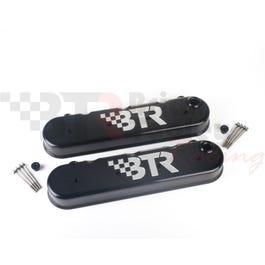 BTR/VED – VALVE COVERS – BILLET – TALL – W/ BTR LOGO – BLACK – 730221A-BTR