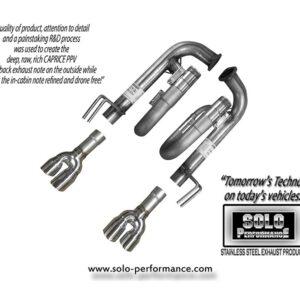 "2011- -2018 Caprice PPV V8 3"" Axle Back Exhaust Kit"