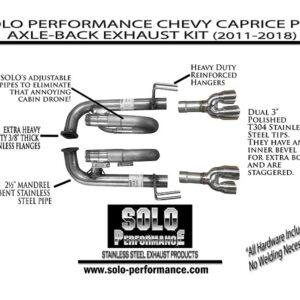 2011- -2018 Caprice PPV V8 Axle Back Exhaust Kit