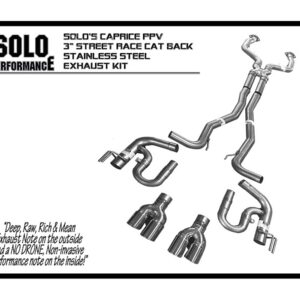 2011- 2018 Caprice PPV 3″ Street-Race CAT Back Exhaust Kit [994001]